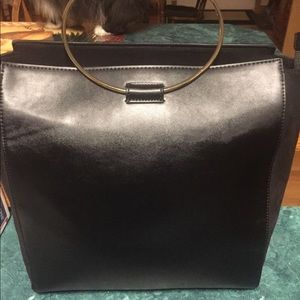 🌸🌸BLK LEATHER EXPRESS TOTE BAG